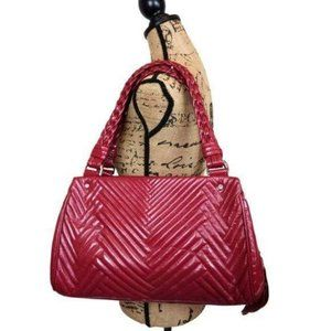 Cole Haan Large Patent Leather Fuchsia  Satchel